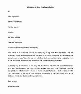 23 hr welcome letter template free sample example With letter of hiring new employee