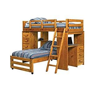 amazon loft bed with desk twin over twin l shaped bunk bed with desk end amazon co