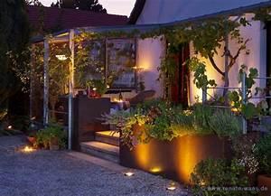 gartenblog geniesser garten beleuchtung garten With französischer balkon mit strahler garten baum