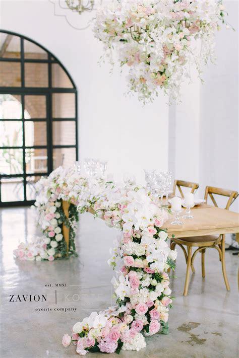 Bridal Table Floral Runner Flower Runner Hanging