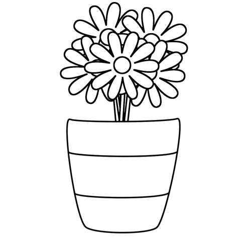 vase coloring pages getcoloringpagescom