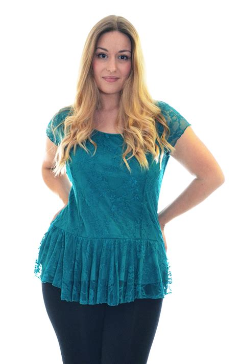 womens plus blouses womens lace top plus size lined peplum style