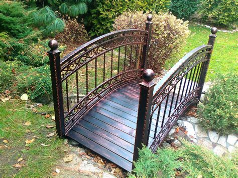 metal garden bridge metal garden bridge decorative and functional item for home garden homesfeed