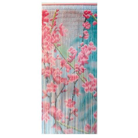 rideau de porte    cm bambou fleurs rideau de