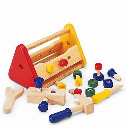 Wooden Tool Box Pintoy Toys Thehut