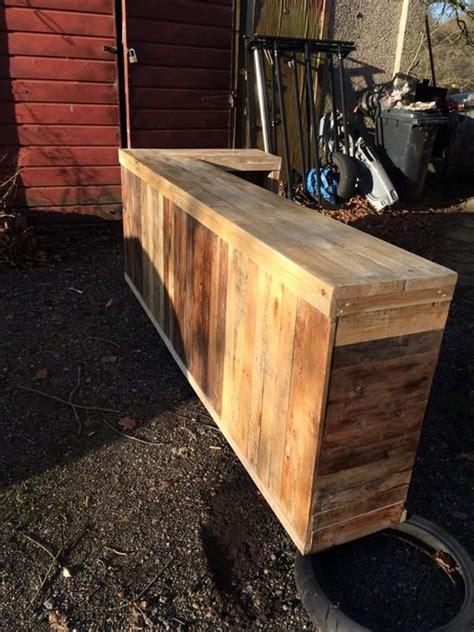 diy pallet  shape desk counter  bar table pallet