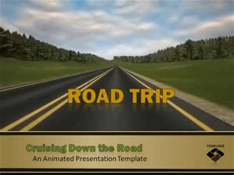 road trip  animated powerpoint template