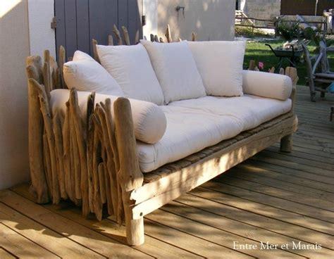 canape exterieur bois canapé en bois flotté 1 2300 longueur 210 cm hauteur