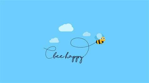 wallpaper bee happy hd creative graphics