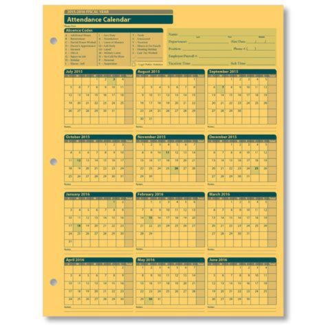 printable calendar  employee attendance calendar