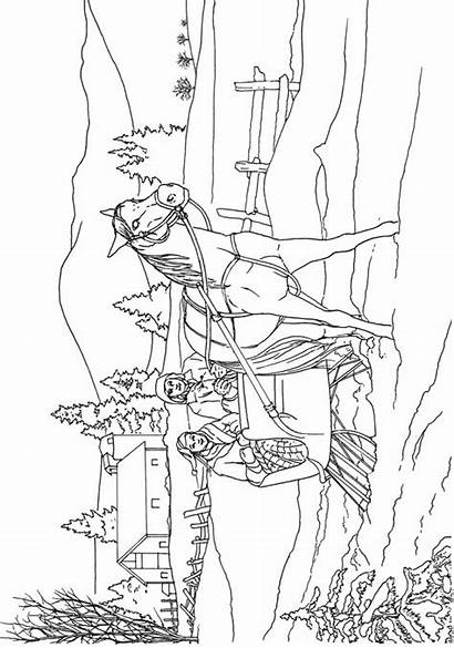 Coloring Pages Scenes Country Dover Christmas Adults