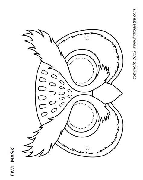 printable mask template printable owl mask