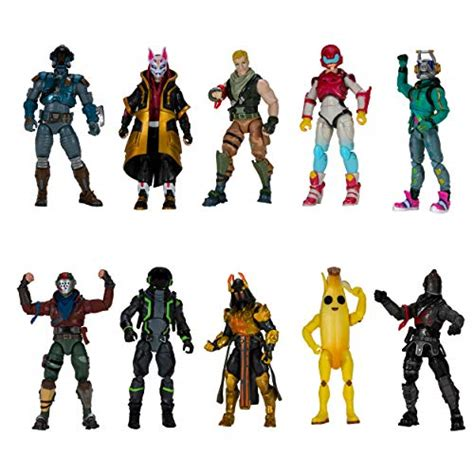 """Fortnite The Chapter 1 Collection - Ten 4"""" Action Figures ..."""
