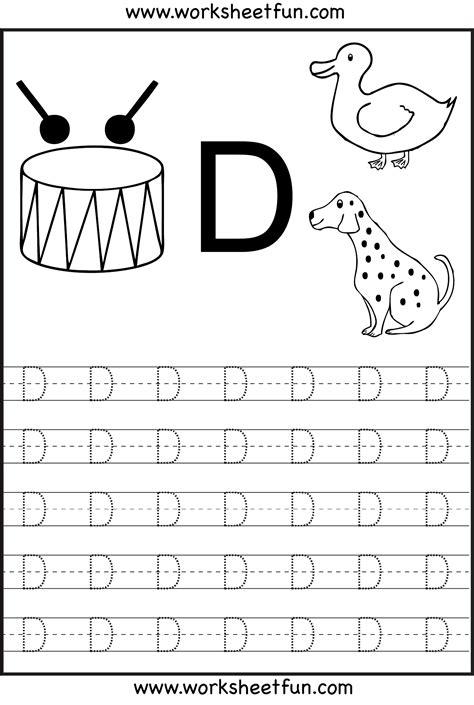 letterdtracingworksheets activities alphabet