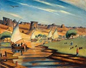 Mahmoud Saïd (Egyptian, 1897-1964) , Le Nil à El Derr ...