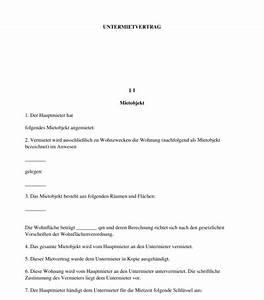Mietvertrag Wg Zimmer Kostenlos : untermietvertrag vorlage zum ausf llen word und pdf ~ Lizthompson.info Haus und Dekorationen