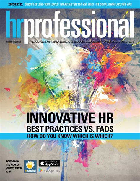 Hr Professional  November 2016 By Hr Professional