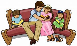 Family Reading Bible Clipart