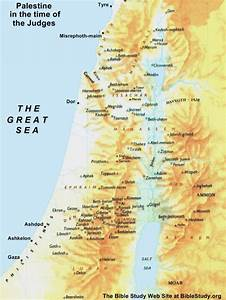 Israel during the Judges large map