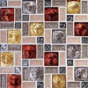 wholesale porcelain glass tile wall backsplash multi With best brand of paint for kitchen cabinets with stone wall art sculpture