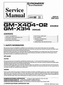 Pioneer Gm X404 Wiring Diagram