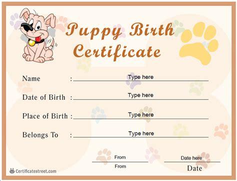 dog birth certificates certificate street free award certificate templates no