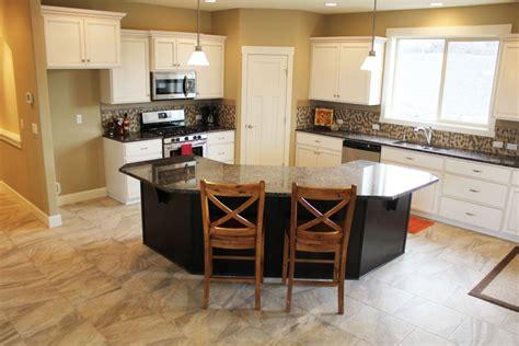 angled kitchen island designs favorite 30 custom angled island kitchen photos alinea 4068