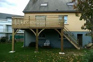 veranda sur terrasse bois 1 une terrasse sur pilotis With veranda sur terrasse bois