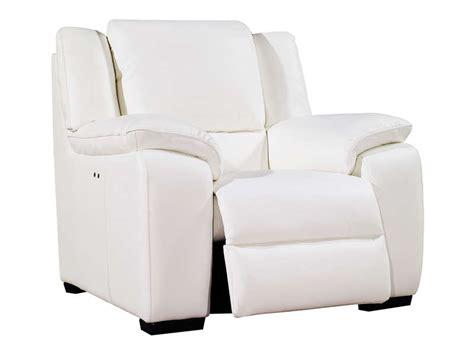 fauteuil en cuir blanc fauteuil relaxation 233 lectrique en cuir saturday coloris blanc vente de tous les fauteuils