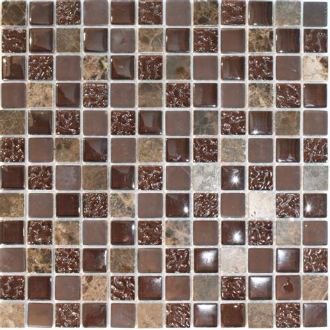 tiles bunnings decor8 tiles 300 x 300 x 8mm choc mix marble mosaic tile