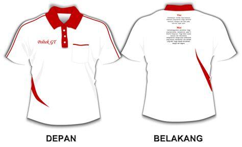 kaos kerah kombinasi putih merah station desain baju