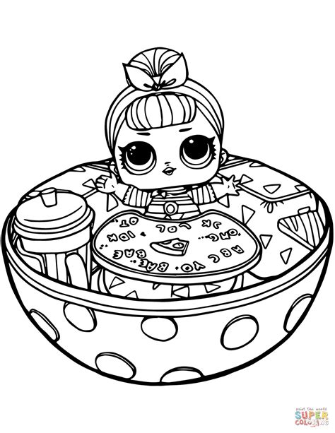 After High Kleurplaat Hanter En Eswing by Sis Swing Lol Doll Coloring Page Free Printable