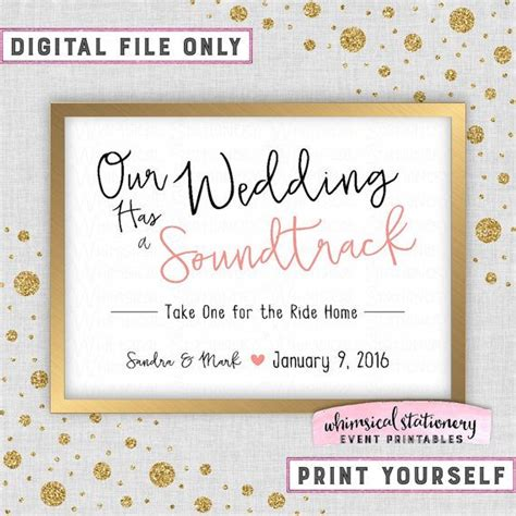 Wedding Soundtrack Cd Sign Wedding Simple Words White