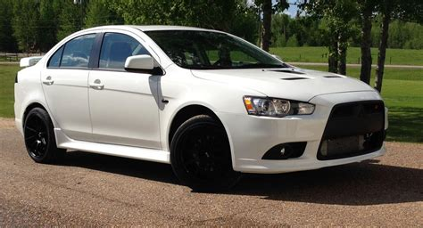 white mitsubishi lancer with black rims official wicked white ralliart picture thread page 65