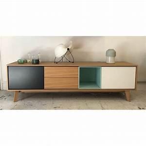Meuble Tv 180 Cm : enfilade buffet meuble tv aura 180cm treku atelier 159 ~ Teatrodelosmanantiales.com Idées de Décoration