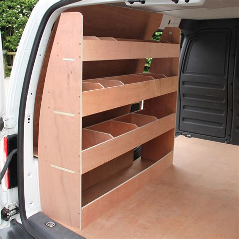 vw caddy swb racking plywood tool storage shelves ply rack shelving unit ebay