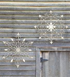 iron snowflake decorations contemporary seasonal outdoor decorations by plow hearth