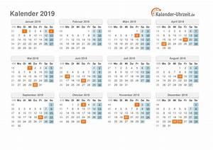 Kalender 18 19 : kalender 2019 mit feiertagen ~ Jslefanu.com Haus und Dekorationen