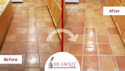a grout sealing in rye new york leaves this terracotta