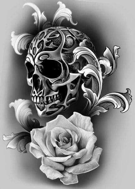 Pin by Gregory Rozwalka on Skulls and Stuff | Tätowierungen, Totenköpfe, Totenkopf tattoos