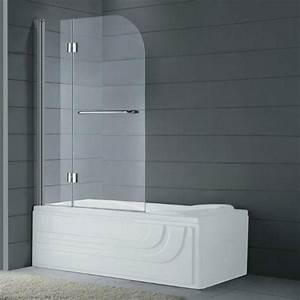 Paroi Douche Baignoire : paroi de baignoire pliante pas cher et sur mesure en verre glass ~ Farleysfitness.com Idées de Décoration