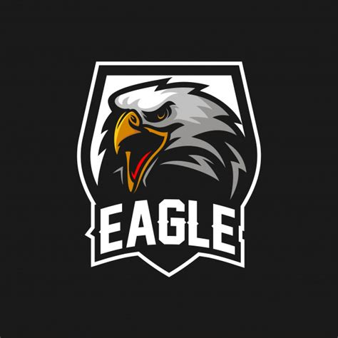 aguila halcon esport gaming mascot logo template