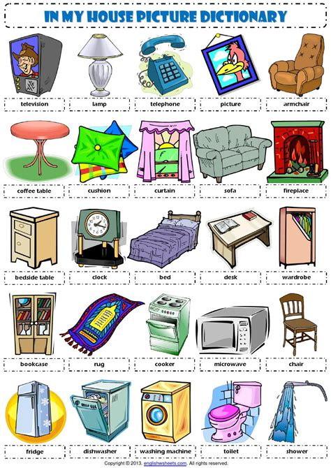 English Vocabulary  In My House Furniture   English, English Vocabulary And Plays