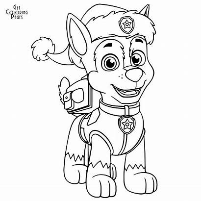 Coloring Patrol Paw Christmas Chase Pages Colouring