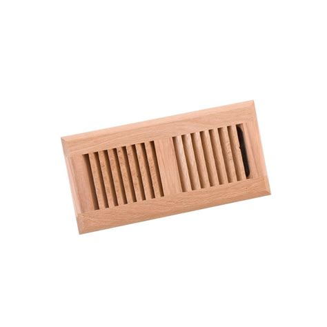 Wooden Floor Registers Home Depot by Decor Grates 2 In X 10 In Unfinished Oak Louvered