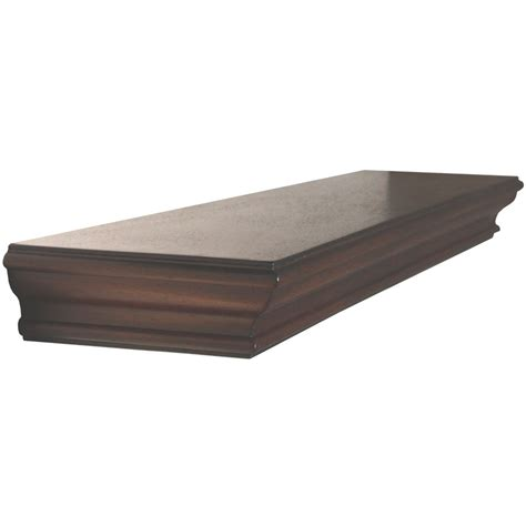 wood shelving shop allen roth 36 in wood wall mounted shelving at