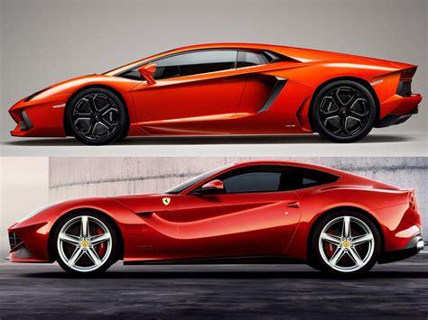 Vs Lamborghini by F12berlinetta Vs Lamborghini Aventador Lp 700 4