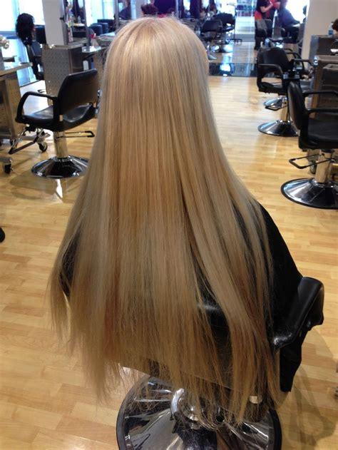 super blonde super long hair    cousin