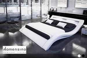 Lit 2 personnes moderne for Chambre à coucher adulte moderne avec matelas 140x190 anti acariens