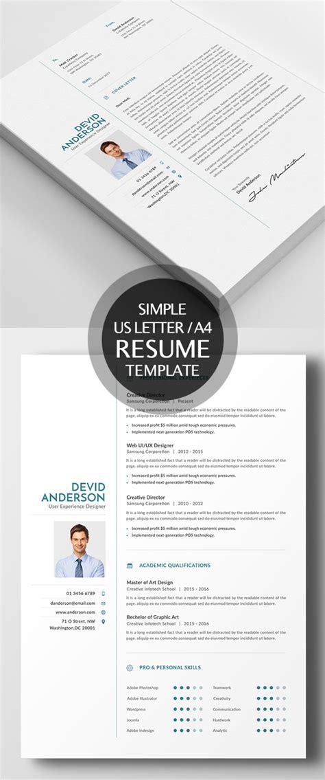 simple creative resume templates new simple clean cv resume templates design graphic